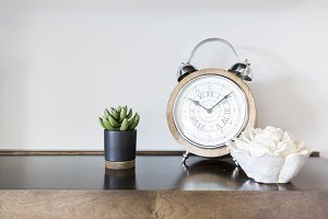 Clock with Succulent