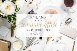 Feminine Office Stock Photo Bundle