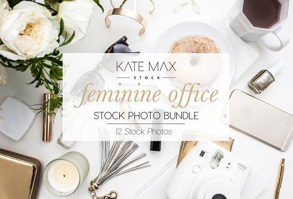 Feminine Office Stock Photo Bundle
