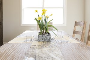Daffodils on Dining Room Table