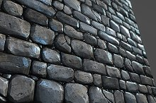 Stone Wall Tile 01 by  in Brick