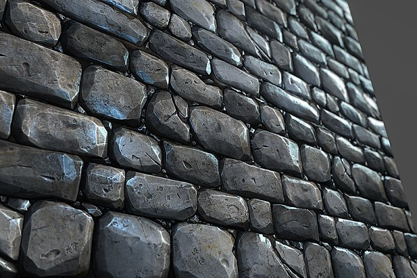 3D Man-Made: Environment Design - Stone Wall Tile 01