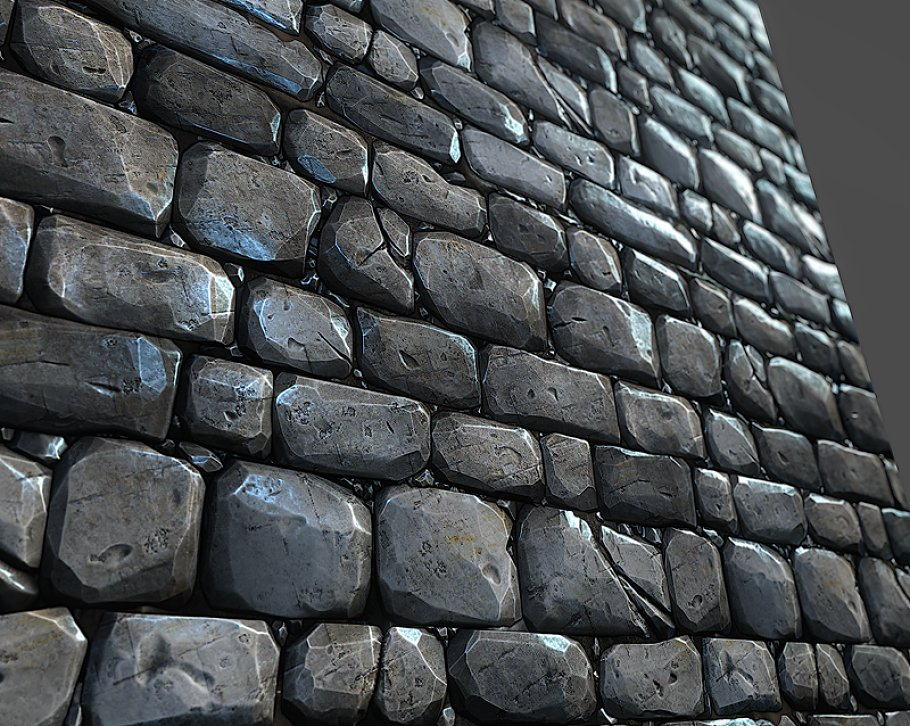 Stone Wall Tile 01 ~ Brick ~ Creative Market