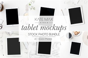 Simple Tablet Stock Photo Bundle