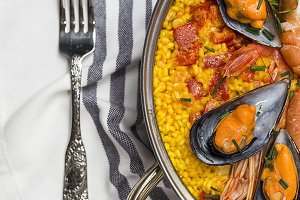 Typical Spanish rice Paella