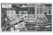 Cheyenne USA City Map in Retro Style