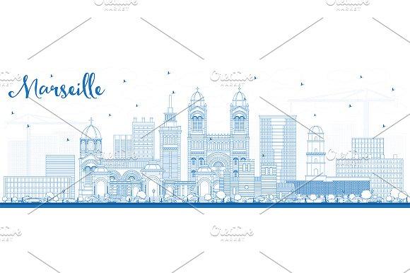 Outline Marseille France City