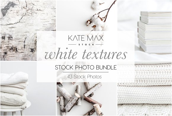 White Textures Stock Photo Bundle