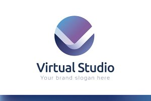 Virtual Studio Logo Template