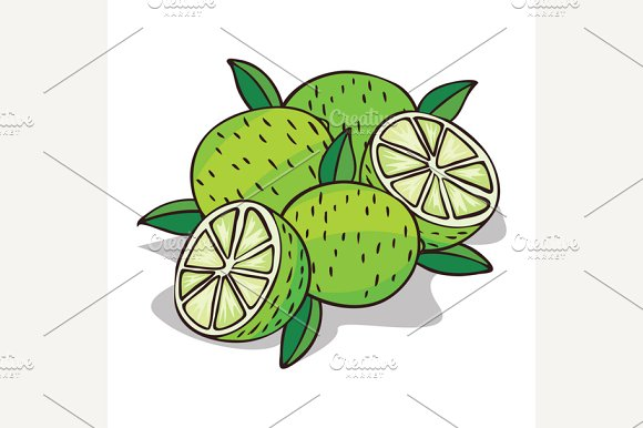 Isolate Ripe Lime Fruit