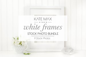 White Frames Stock Photo Bundle