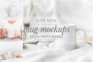 White Mug Stock Photo Bundle