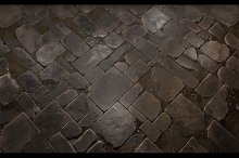 Stone Floor Tile 02 by  in Brick