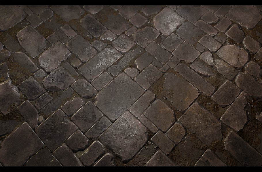 Stone Floor Tile 02 Brick Creative Market