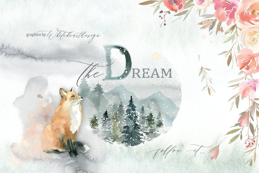 Watercolor Floral Bundle-95% off in Illustrations - product preview 8