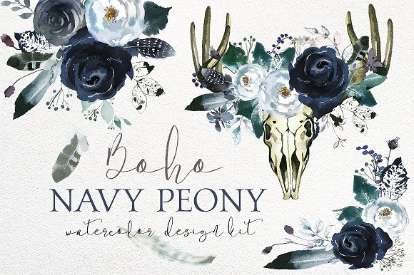 Watercolor Floral Bundle-95% off in Illustrations - product preview 2