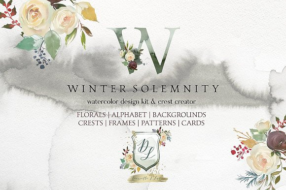 Watercolor Floral Bundle-95% off in Illustrations - product preview 5