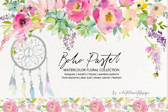 Watercolor Floral Bundle-95% off in Illustrations - product preview 7