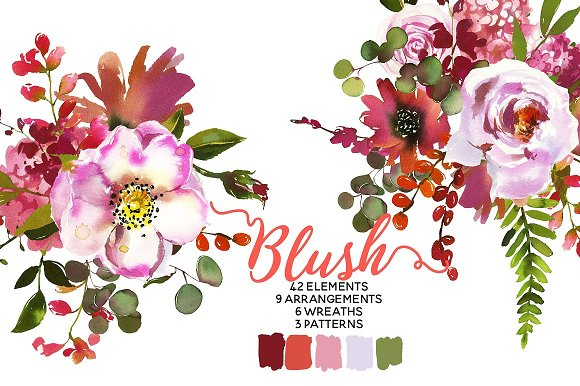 Watercolor Floral Bundle-95% off in Illustrations - product preview 12