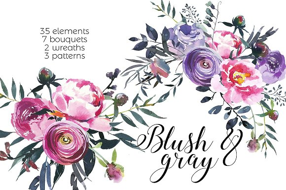 Watercolor Floral Bundle-95% off in Illustrations - product preview 13
