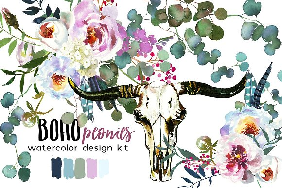 Watercolor Floral Bundle-95% off in Illustrations - product preview 14