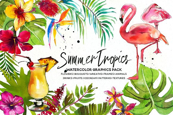 Watercolor Floral Bundle-95% off in Illustrations - product preview 16