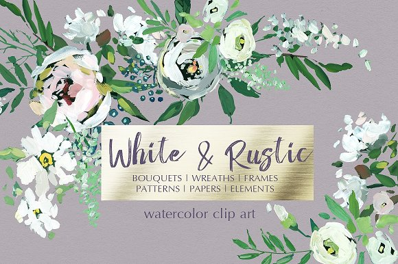 Watercolor Floral Bundle-95% off in Illustrations - product preview 18