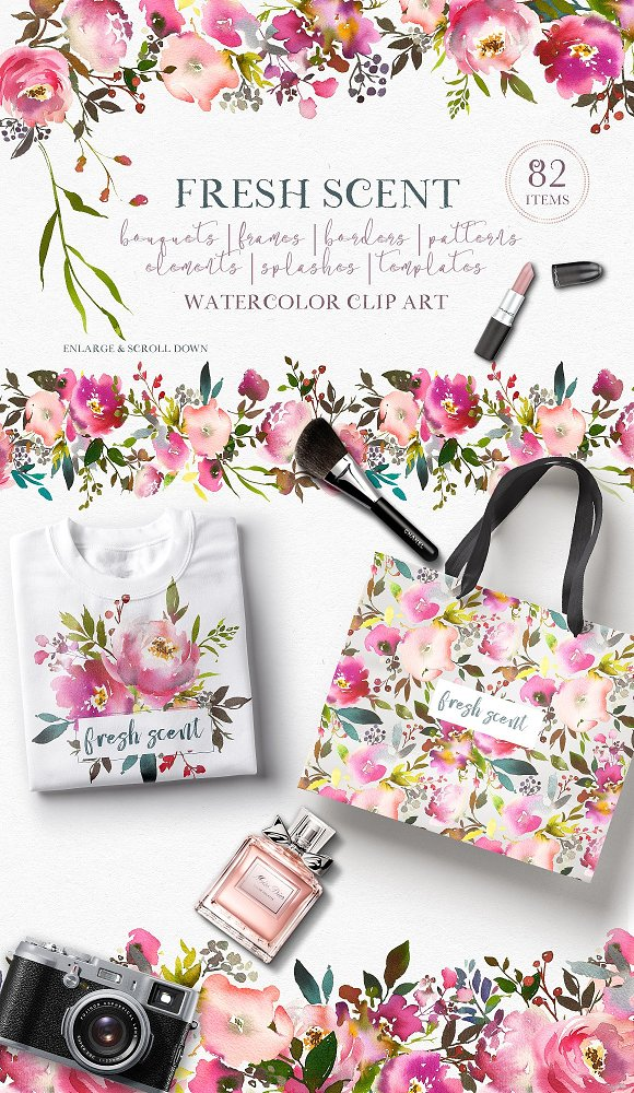 Watercolor Floral Bundle-95% off in Illustrations - product preview 20