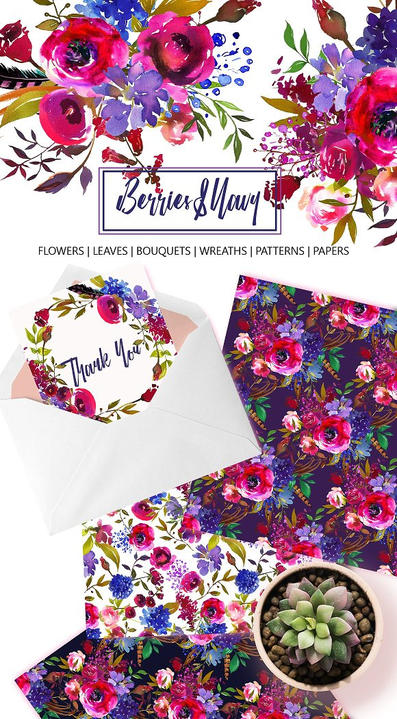 Watercolor Floral Bundle-95% off in Illustrations - product preview 22