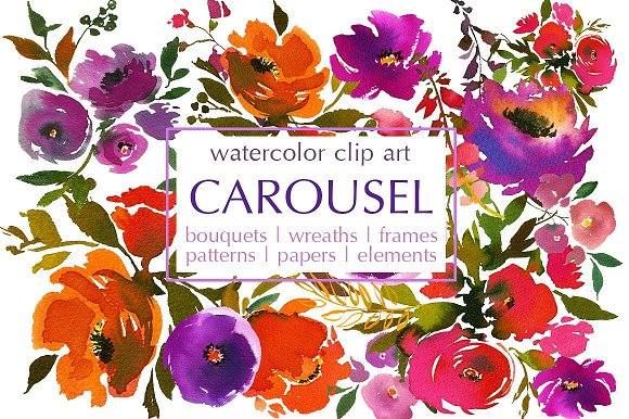 Watercolor Floral Bundle-95% off in Illustrations - product preview 24