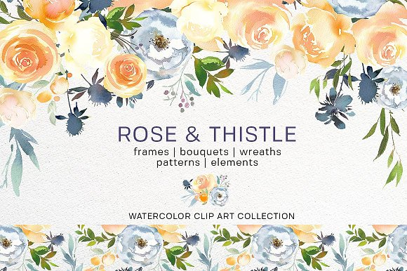 Watercolor Floral Bundle-95% off in Illustrations - product preview 25