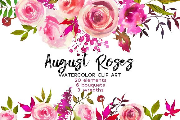 Watercolor Floral Bundle-95% off in Illustrations - product preview 27