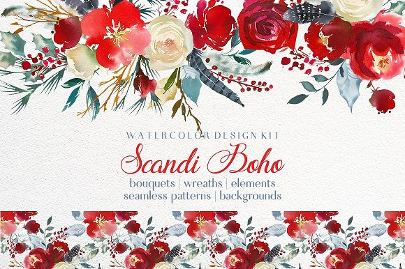 Watercolor Floral Bundle-95% off in Illustrations - product preview 28