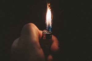 Lighter in the hand