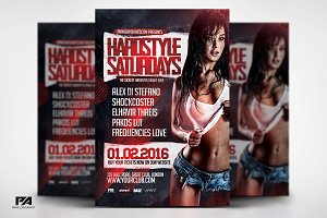 Hardstyle Saturdays Flyer Template