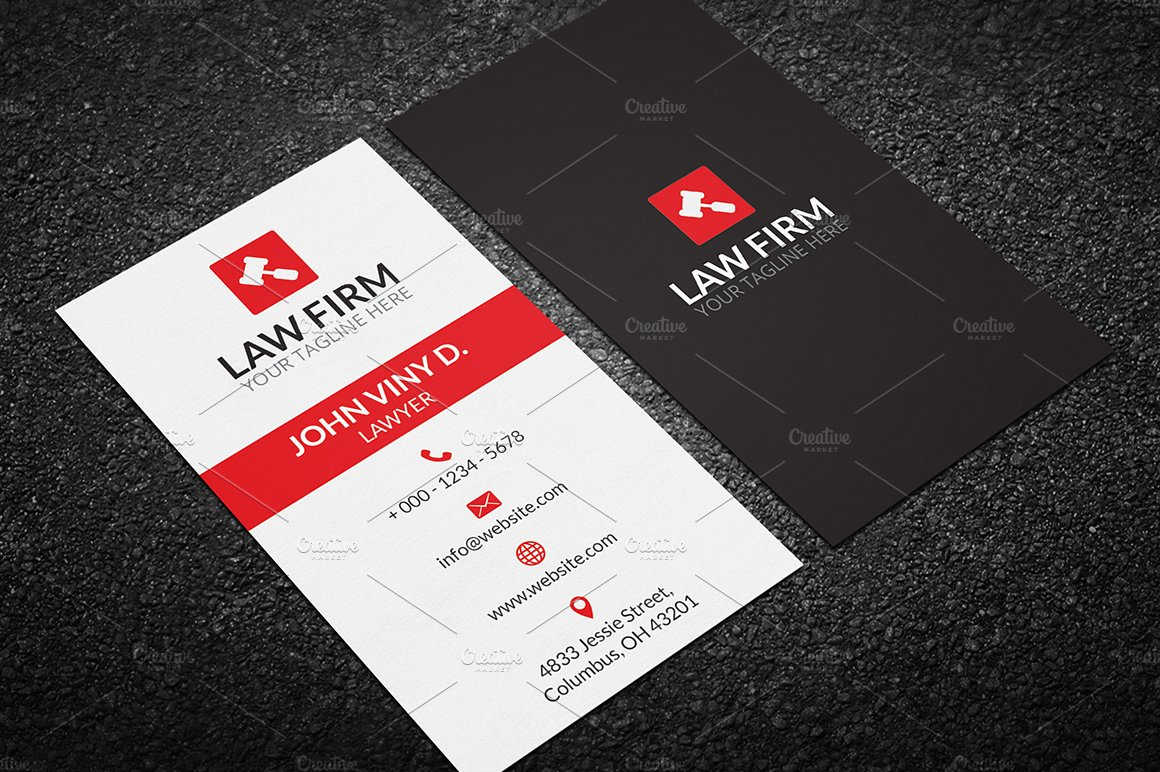 Law Business Card ~ Business Card Templates ~ Creative Market