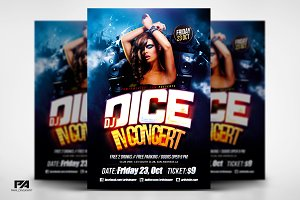 DJ In Concert Party Flyer Template