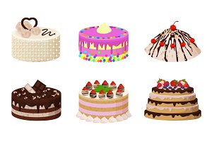 Sweet Bakery Collection Poster Vector Illustration