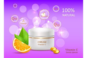 Natural Cream with Vitamins. Coenzyme Energizer