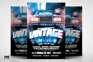 Vintage Car Show Flyer Template