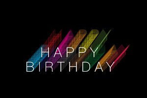 colorful shadow birthday greeting