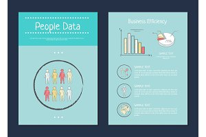 People Data and Business, Vector Illustration