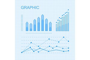 Set of Vector Graphs and Diagrams for Infographics