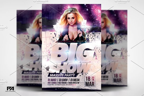 BIG SHOW Party Flyer Template
