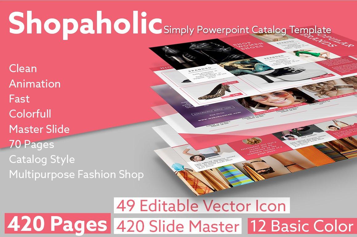 shopaholic simply powerpoint catalog presentation templates