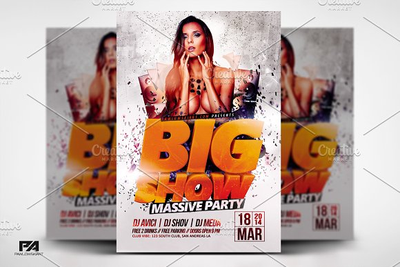 BIG SHOW V2 Party Flyer Template