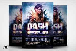 DJ Electro v2 Party Flyer Template