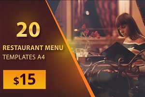 20 Restaurant Menu Templates A4