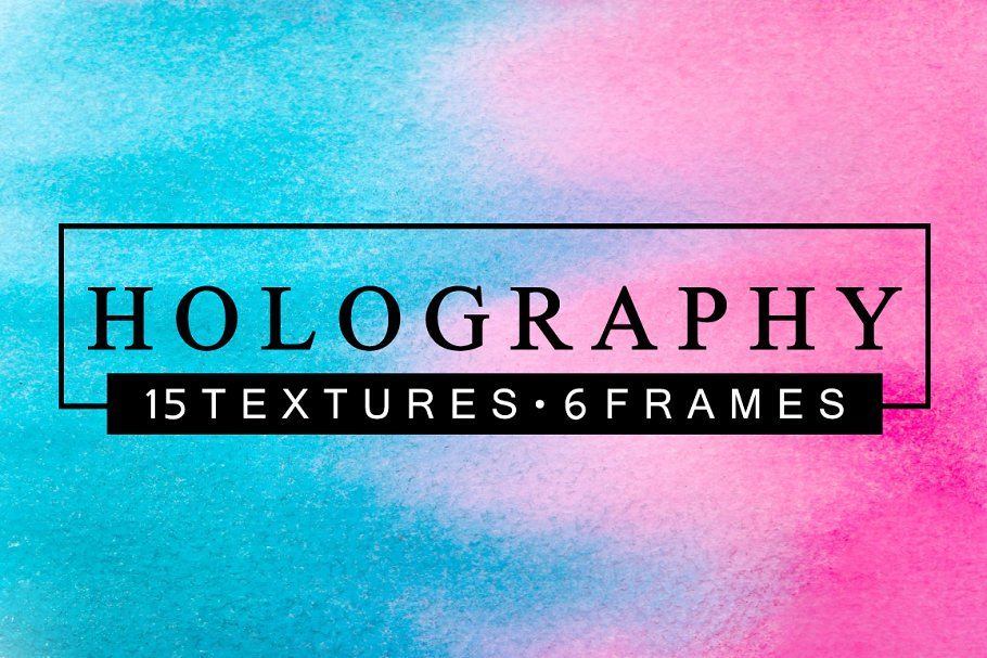 HOLOGRAPHY Watercolor Textures Pack