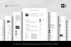 Professional Resume Bundle for Word